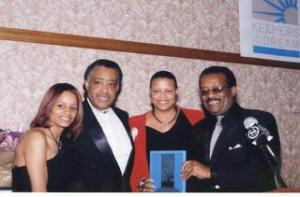 Rachel Noerslinger, Rev. Al Sharpton, Terrie Williams, Johnnie L. Cochran, Jr.